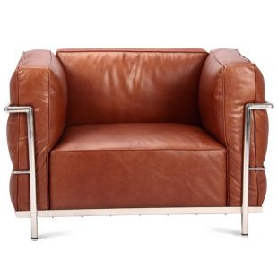 LC3 Style Armchair Feather version