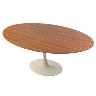 TABLE OVALE TULIPE EN BOIS