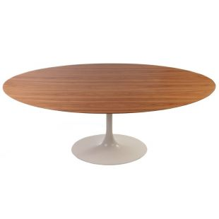 TABLE OVALE TULIPE EN BOIS