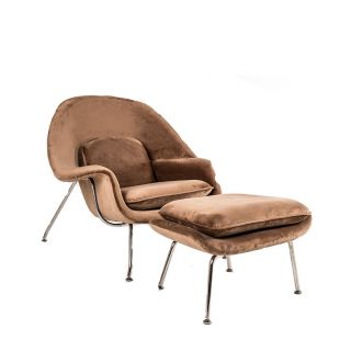 FAUTEUIL WOMB & OTTOMAN