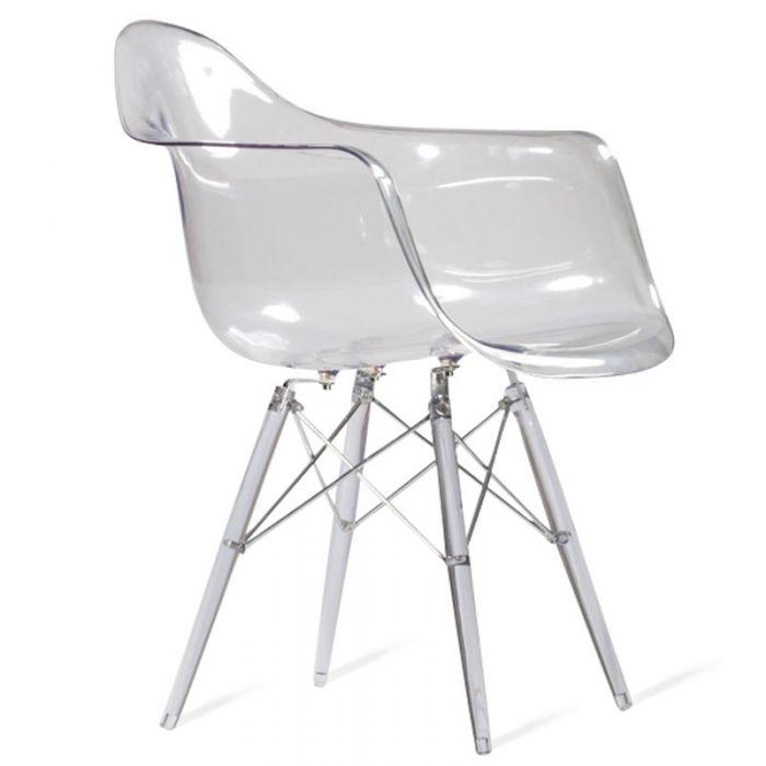 Chaise DAW Transparente Inspiration De Charles Eames